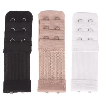 2ed8ae650b743 3Pcs  set Soft Ladies 3 Rows By 2 Hooks Bra Extender Bra Extension Strap  Underwear