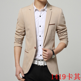 Men's casual suit youth Slim fit small suit men's top (1419 casual)