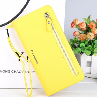 Baellerry Long Zipper Wallets Leather Trifold Clutch Bag Mobile Wallet for Women - intl