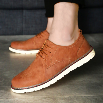 The British new casual Shoes Men shoes (Brown) (Brown)