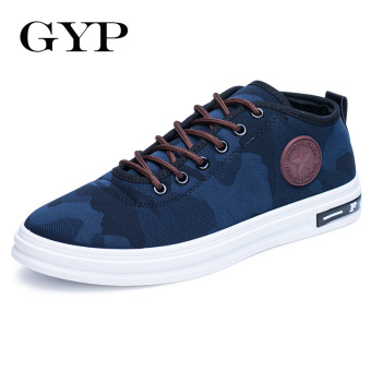 BYL-AS men shoes breathable/trend/This heel height. (Blue)