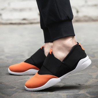 Casual Low Top shoes/men's shoes/breathable shoe OTO1 (Orange)