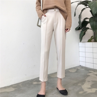 Korean Style Female New Style High Waisted Ankle Length Pants Yang Source · Looesn Korean Style New Style Spring Dress Ankle Length Pants Source Chic Korean ...
