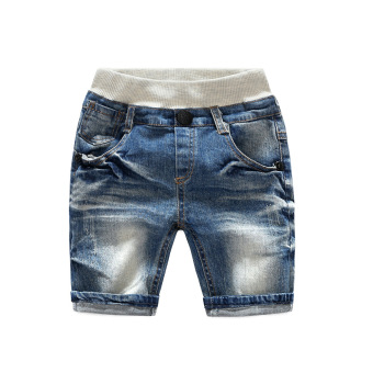 Children's clothing summer models casual simple in small children boys and girls children's baby wild five pants shorts denim pants