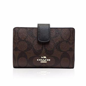 Coach F23553 Medium Corner Zip wallet in Signature