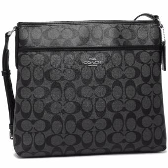 Coach Signature Coated Canvas File Bag