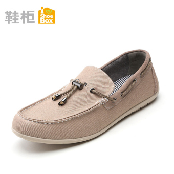 Shoebox casual discount shoe cabinet foot covering low-top shoes (Beige color 111)