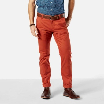 Dockers Alpha Original Khaki Slim Tapered Pants Copper Sunset
