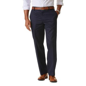 Dockers Iron Free Khaki Straight Fit Pants Navy