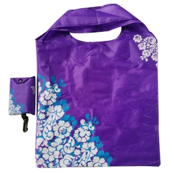Elife Foldable Reusable Travel Tote Shopping bag Handbag Recycle Storage Grocery ( Purple ) - intl