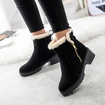 Fashion Women Winter Snow Boot Keep Warm Comfortable Outdoor Casual Ankle Short Boots - intl