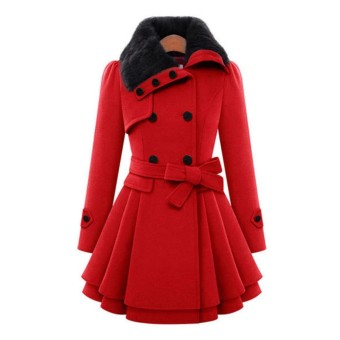 Fashion Womens Thicken Warm Winter Coat Faux Fur Parka Overcoat Jacket Outwear - intl