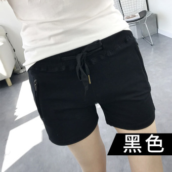 Female thin slimming harem pants sports shorts (Black)