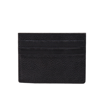 First layer of leather men's women's thin purse leather card holder (Black (card holder))