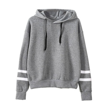 Hequ Autumn Hooeded Sweatshirt Women Long Sleeve Pullover Streetwear Fleece Hoodies Grey - intl