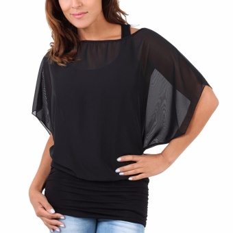 Check For Price Of Hequ Women Tops Casual Sleeve Chiffon Ladies
