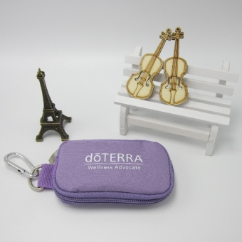 Doterra 10-slot Essential Oil Key Bag (Purple with a biphasic bottle) (Purple with a biphasic bottle)