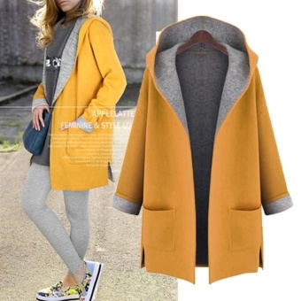 Hot Sale Women Lady Thicken Warm Winter Trench Hooded Coat Parka Overcoat Plus-size Long Jacket Outwear with Cap - intl