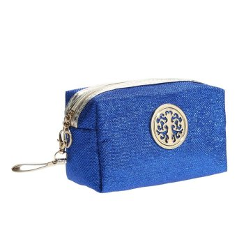 Harga Makeup Bag Prince Hand Pearlite Layer Gold Shining Powder (Royal Blue) - intl