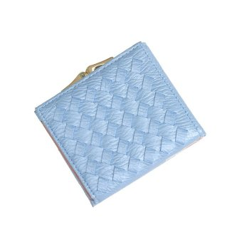 Harga Simple female woven soft surface wallet Ms. wallet