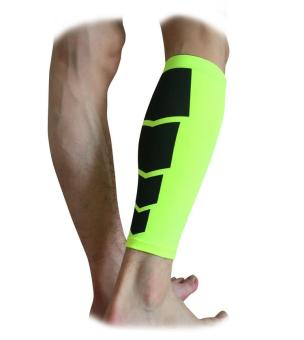 1Pc Men Women Cycling Leg Warmers Calf Support Shin Guard Base Layer Compression Running Soccer Football Basketball Leg Sleeves(Green/M)