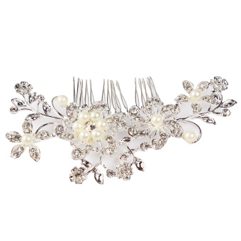 Harga Bridal Wedding Crystal Rhinestone Flower Hair Clip Comb Pin Headband