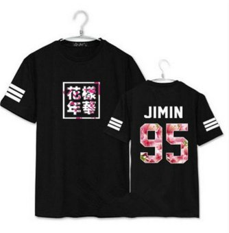 Harga BTS bullet proof youth team Sakura T-shirt black(JIMIN) - intl