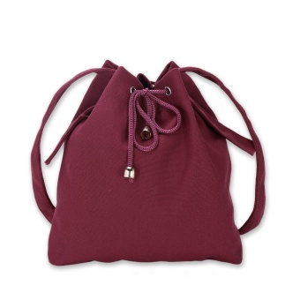 Harga WomenFashion Trend Bag Bucket Canvas Bag - Red - intl