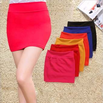 Harga Candy color Korean-style bubble cloth skirts package hip Skirt