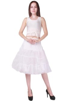 Harga Hang-Qiao Underskirt Swing Petticoat Ballet Skirt Dance Dress White