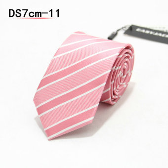 Harga Tie male formal wear business tie 7cm narrow version tie male korean version of the influx of casual black and red checkered career (DS7CM-11)