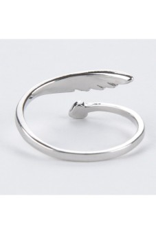 Harga Moonar 925 Sterling Women Angel's Wing Style Open Design Ring Ornament (Silver)