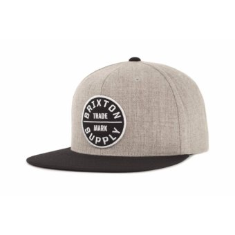 Harga BRIXTON Oath lll Snapback - Heather Grey/Black