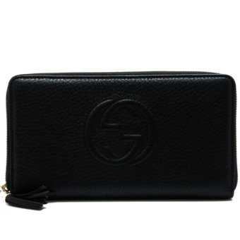 Harga Gucci Soho Leather Zip Around Wallet (Black)