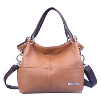 Harga SoKaNo Trendz 12007 PU Leather Tote Bag- Brown (Intl) - Intl