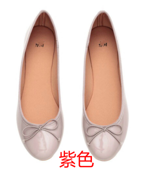 Harga European and American Butterfly knot Round shoes