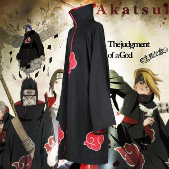 Unisex Cosplay Costumes Japan Anime Naruto Itachi Akatsuki Cosplay Robes Cloak Cape Hood Coat Party Costumes Clothing - intl