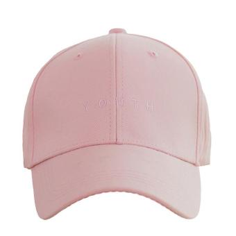 Harga Hang-Qiao Fashion Hats Letter Couples Baseball Caps (Pink) - intl