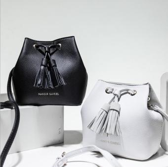 Harga Fashion Strap Bucket Bag Women High Quality Leather Shoulder Bag Brand Desinger Ladies Crossbody Bags(black) - intl