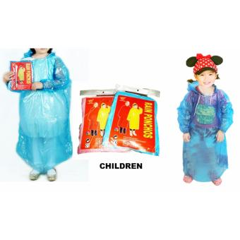 Harga Disposable Poncho - Buy 5 Get 1 Free (Children Yellow)