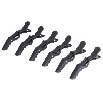 6PCS Hair Clip Hairdressing Sectioning Hairpin Clamp (Black) - intl