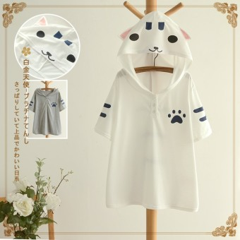 Harga Cute cat casual hooded Top