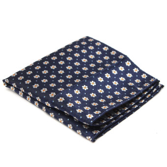 Harga Men Pocket Square Hankerchief Korean Silk Paisley Dot Floral Hanky Wedding Party Style21 - Intl