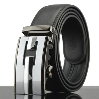 Harga LINGHO BELT 2017 New Fashion real Genuine Leather Belt Cinto Masculino Belt For Men famous brand designer men belt luxury,KB109 - intl