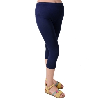 Harga CatWalk Cropped Maternity Cotton Leggings 3/4 Length Pregnancy (Blue)