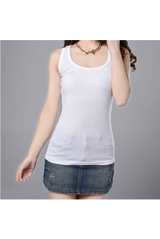 Harga Sleeveless Tank Top (White)