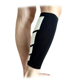 1Pc Men Women Cycling Leg Warmers Calf Support Shin Guard Base Layer Compression Running Soccer Football Basketball Leg Sleeves(Black/L)
