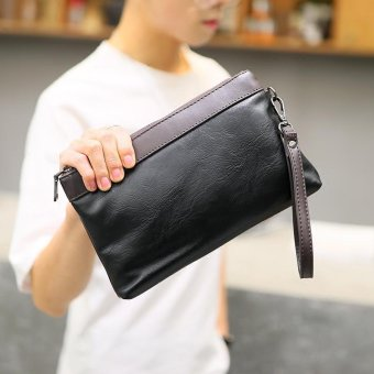Sunking Korean Fashion Business Leisure Clutch Mens Handbag Messenger Bag Black Intl - Daftar Update Harga Terbaru Indonesia