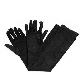 Pair Stretch Women Lady Black Long Gloves For Party Wedding Bridal Evening Dress - Intl