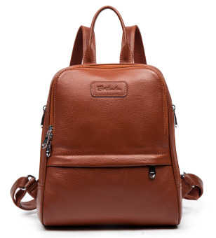 Bostanten Women's Cow Leather Casual Backpack Bag Shoulder Bag Coffee
